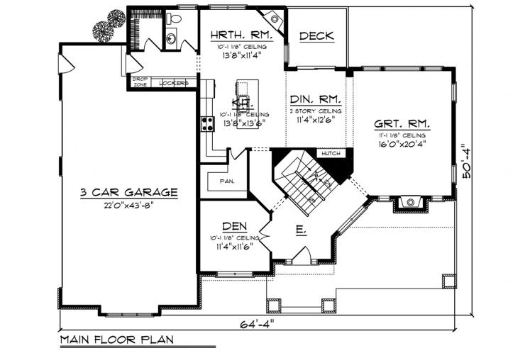 Craftsman House Plan -  57227 - Front Exterior