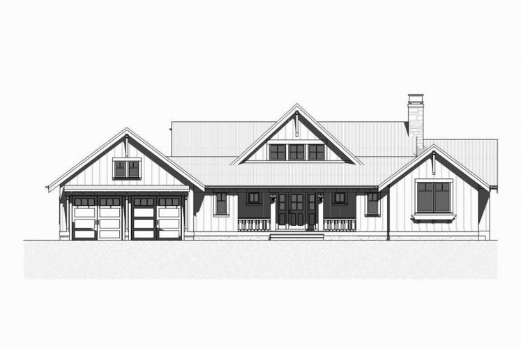 Craftsman House Plan - Herring 57237 - Front Exterior