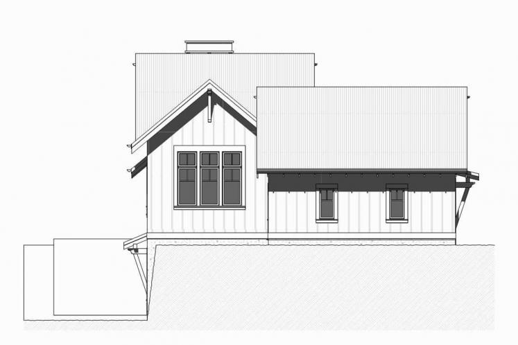 Ranch House Plan - Herring 57237 - Left Exterior