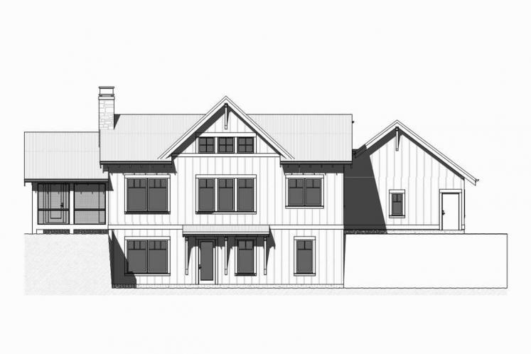 Ranch House Plan - Herring 57237 - Rear Exterior