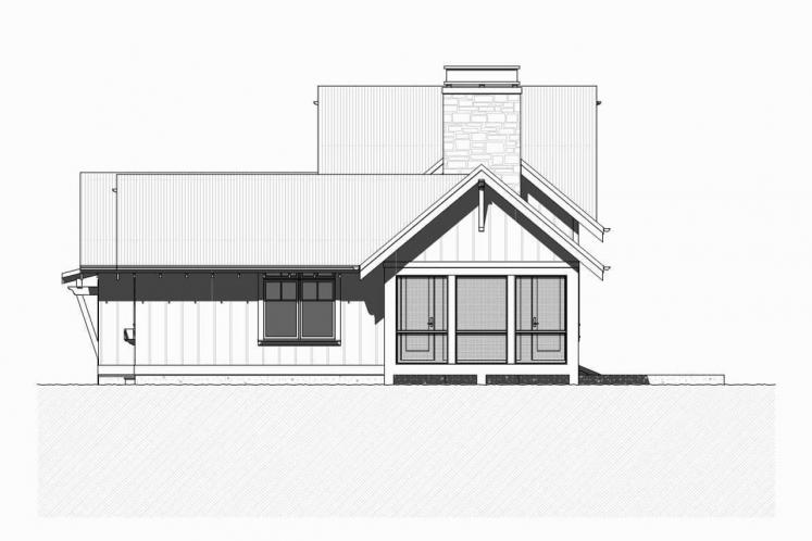 Craftsman House Plan - Herring 57237 - Right Exterior