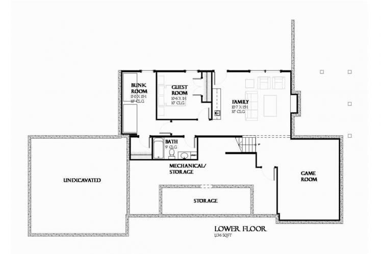 Craftsman House Plan - Herring 57237 - Basement Floor Plan