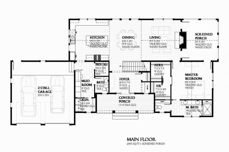 Ranch House Plan - Herring 57237 - 1st Floor Plan