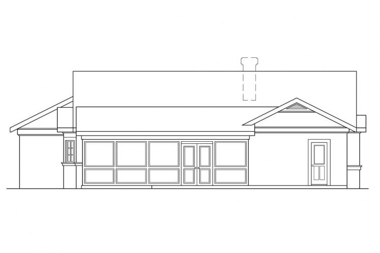 Southwest House Plan - Catalina 57247 - Rear Exterior
