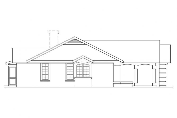 Spanish House Plan - Catalina 57247 - Left Exterior