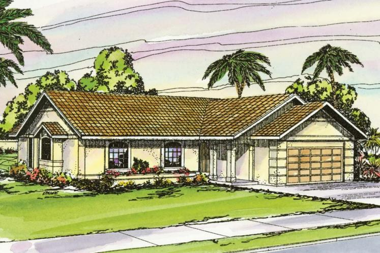 Mediterranean House Plan - Catalina 57247 - Front Exterior
