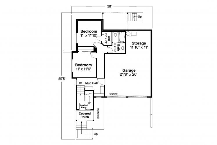 Contemporary House Plan - Sheffield 57319 - 1st Floor Plan