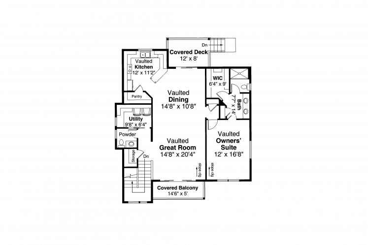 Modern House Plan - Sheffield 57319 - 2nd Floor Plan