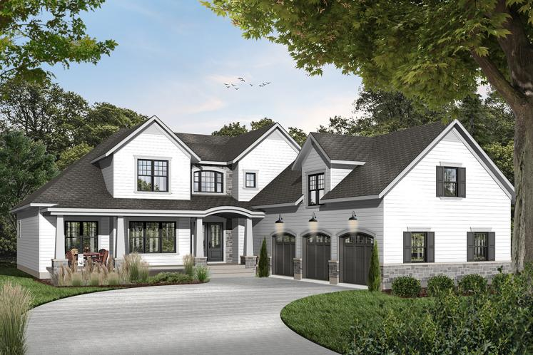 Ranch House Plan - The Stocksmith 57383 - Front Exterior