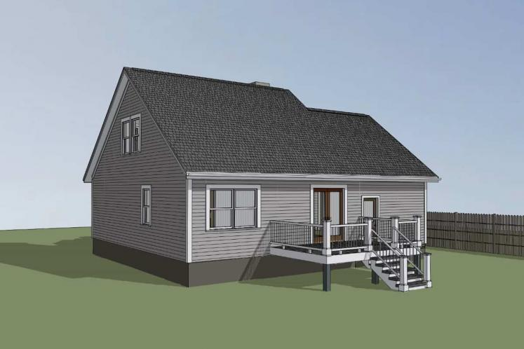 Country House Plan -  57426 - Right Exterior