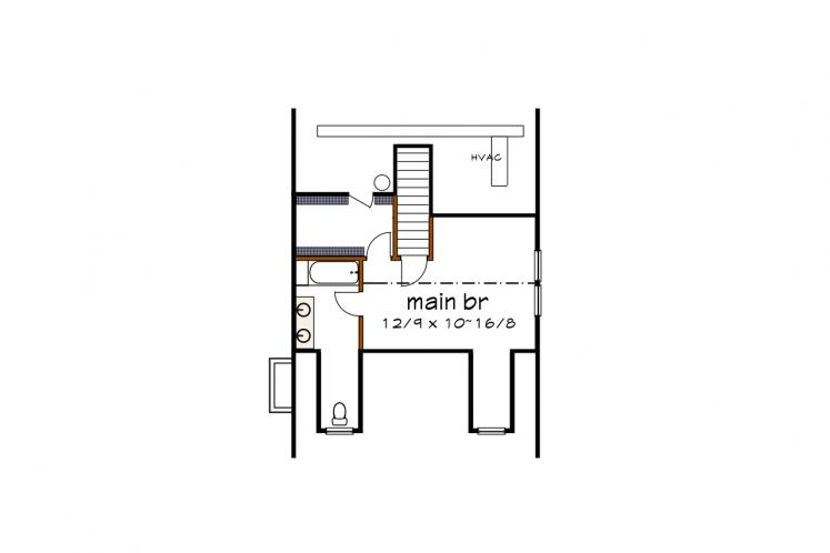 Cottage House Plan -  57426 - 2nd Floor Plan
