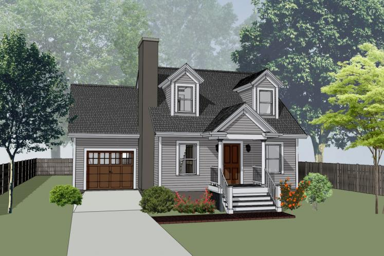 Craftsman House Plan -  57426 - Front Exterior