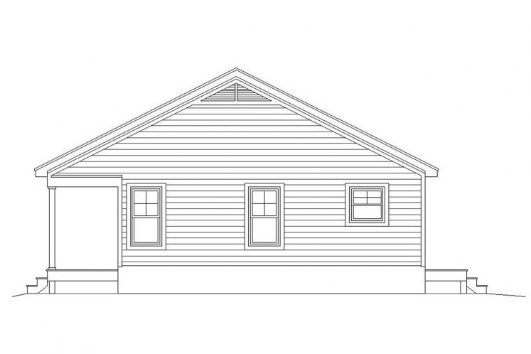 Country House Plan -  57575 - Right Exterior