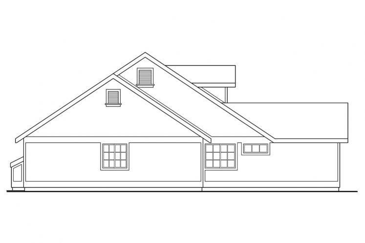Ranch House Plan - Ann Arbor 57579 - Left Exterior