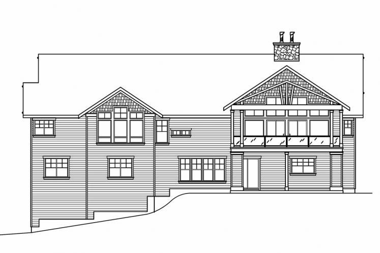 Cottage House Plan - Pacifica 57626 - Rear Exterior