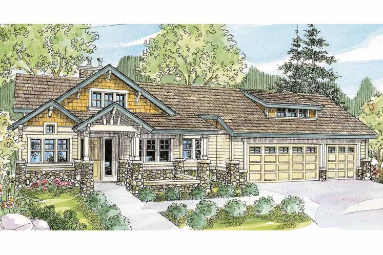Bungalow House Plan - Pacifica 57626 - Front Exterior