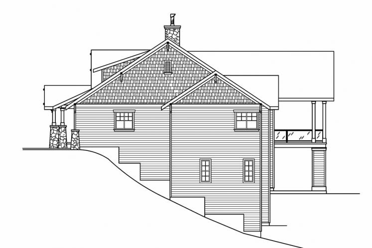 Bungalow House Plan - Pacifica 57626 - Right Exterior