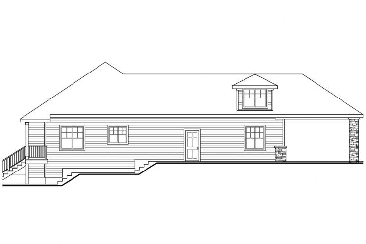 Traditional House Plan - Stonechase 57710 - Left Exterior