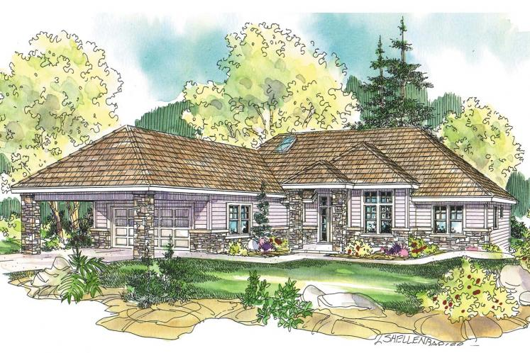 Contemporary House Plan - Stonechase 57710 - Front Exterior