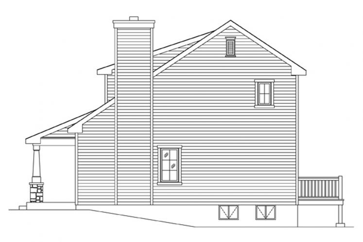Cottage House Plan -  57764 - Right Exterior