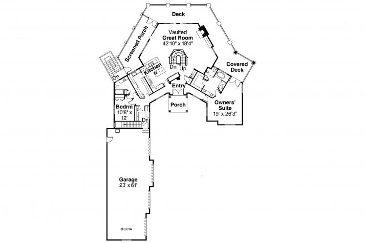 Classic House Plan - Hillview 57833 - 1st Floor Plan