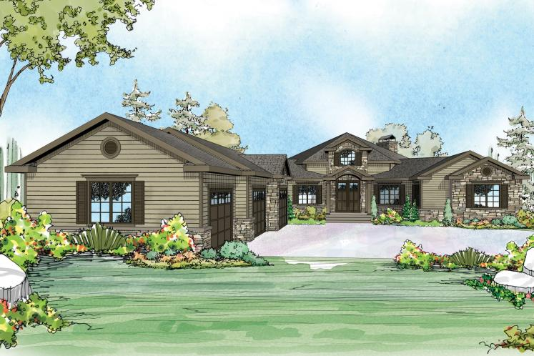 European House Plan - Hillview 57833 - Front Exterior