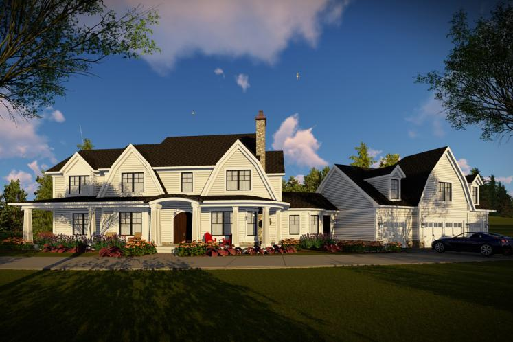 Country House Plan -  57960 - Front Exterior