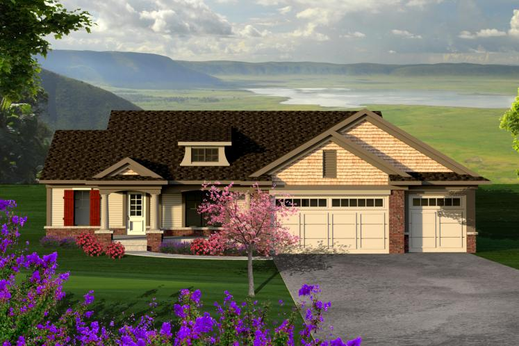 Ranch House Plan -  57967 - Front Exterior