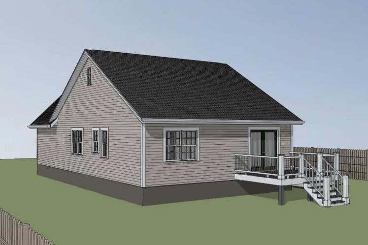 Cottage House Plan -  57976 - Right Exterior