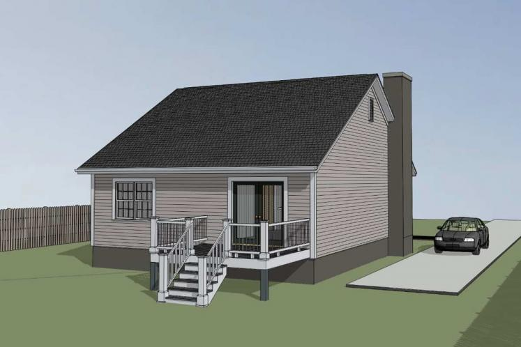 Country House Plan -  57976 - Left Exterior