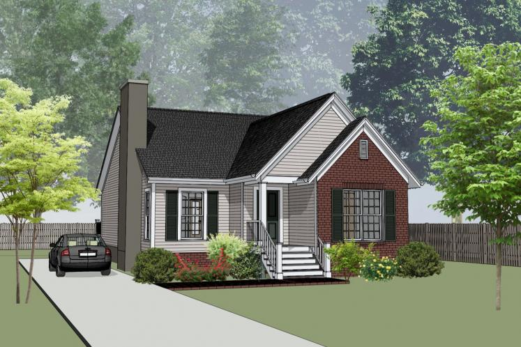 Cottage House Plan -  57976 - Front Exterior