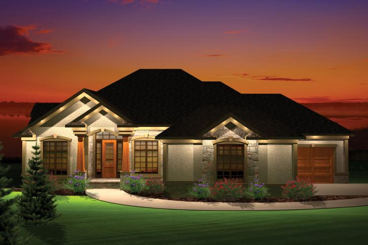 Traditional House Plan -  58060 - Front Exterior