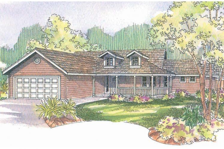 Country House Plan - Kennison 58077 - Front Exterior