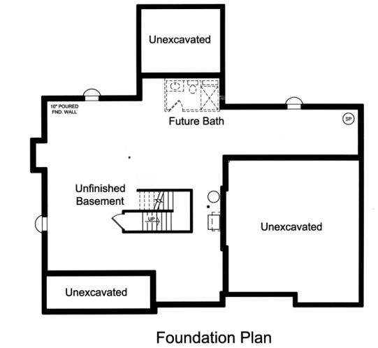 Craftsman House Plan - The Scarborough 58099 - Basement Floor Plan
