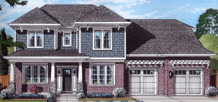 Craftsman House Plan - The Scarborough 58099 - Front Exterior