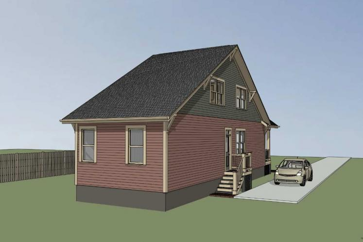 Country House Plan -  58216 - Left Exterior