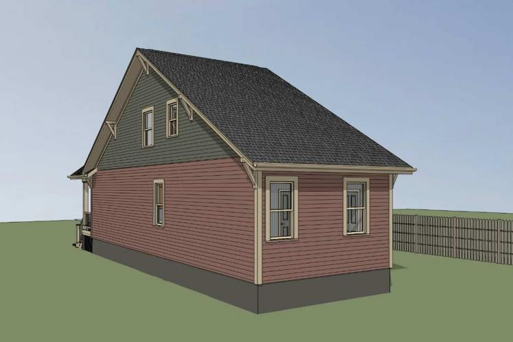 Traditional House Plan -  58216 - Right Exterior