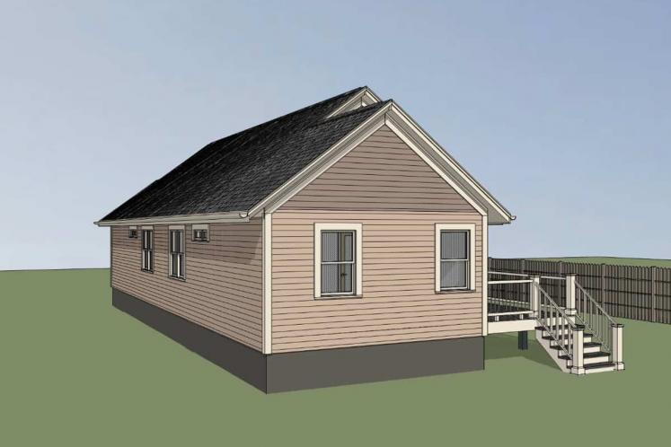 Country House Plan -  58237 - Right Exterior
