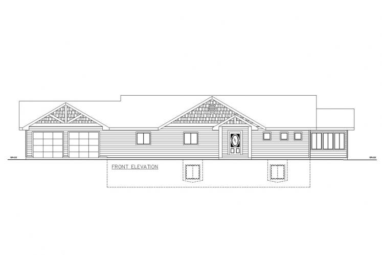 A-Frame House Plan -  58305 - Front Exterior