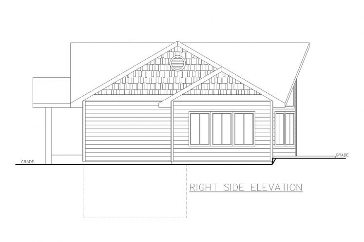 A-Frame House Plan -  58305 - Right Exterior