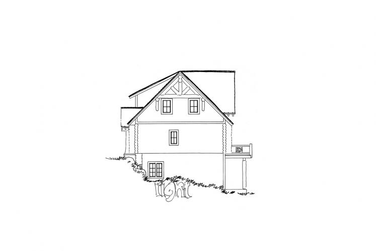 Cottage House Plan - Keystone 58431 - Right Exterior