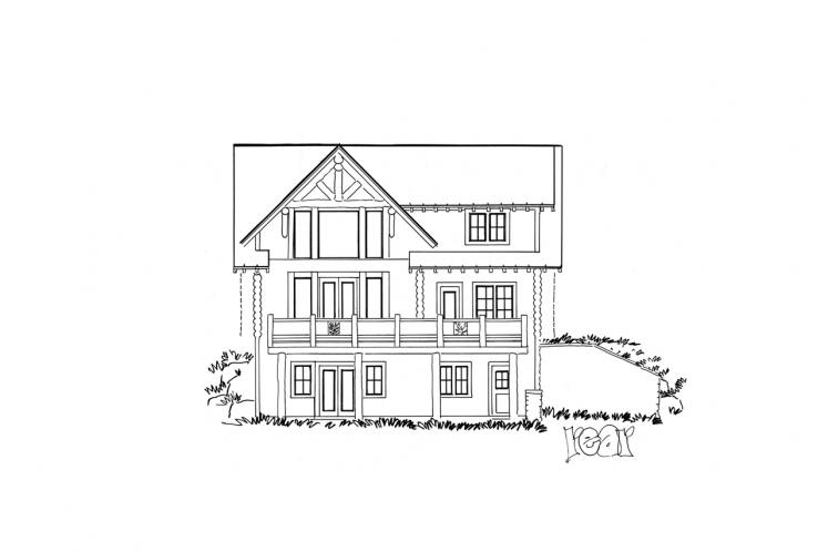 Cottage House Plan - Keystone 58431 - Rear Exterior