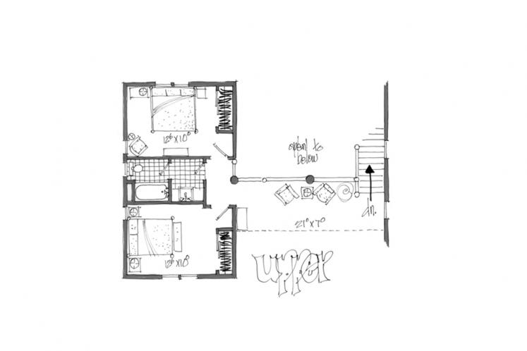 Cottage House Plan - Keystone 58431 - 2nd Floor Plan