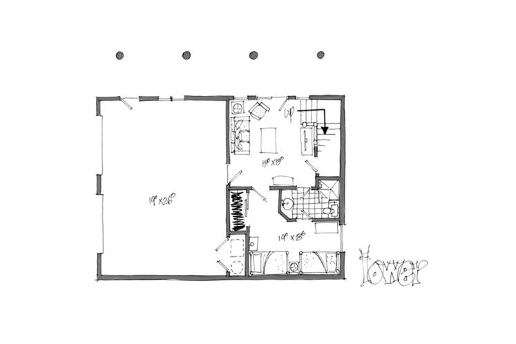 Lodge Style House Plan - Keystone 58431 - Basement Floor Plan