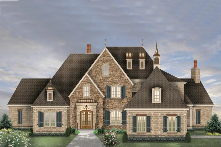Classic House Plan -  58481 - Front Exterior