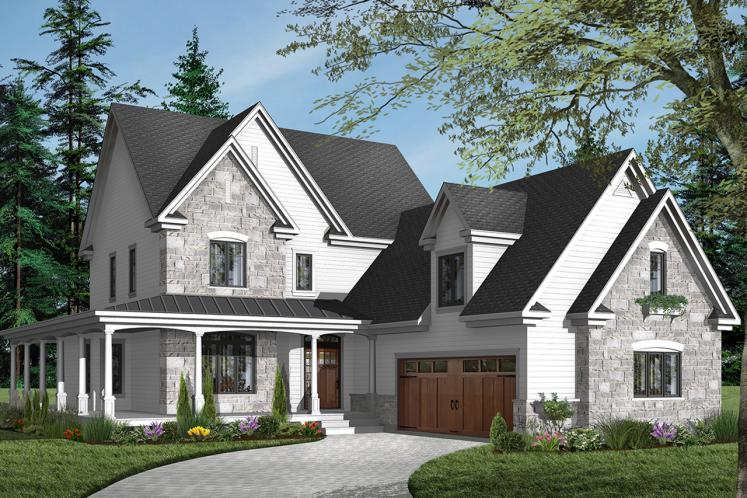 Farmhouse House Plan - Turningdale 58508 - Front Exterior