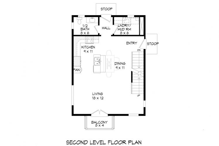 Modern House Plan - Tanglewood 58634 - 2nd Floor Plan