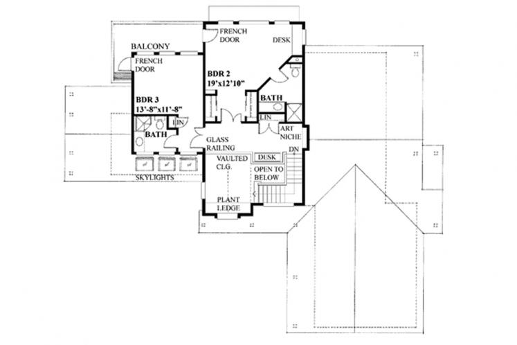 Traditional House Plan - Solute 58650 - 2nd Floor Plan