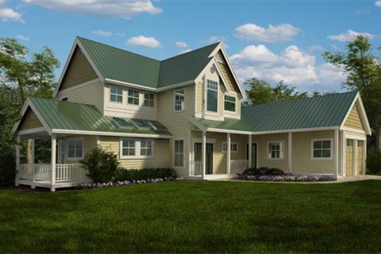 Farmhouse House Plan - Solute 58650 - Front Exterior