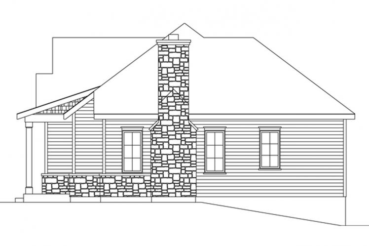 Bungalow House Plan -  58710 - Right Exterior